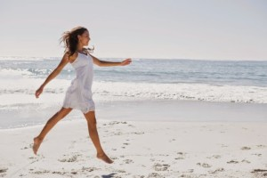 Woman Moving Freely